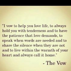 The Vow=Love