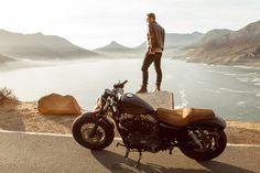 Harley Davidson couple shoot on Chapman's Peak