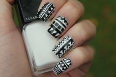 B Tribal | from Coewless nail polish blog