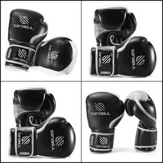 ESSENTIAL BOXING GLOVES GREEN 10-OZ Leather Construction  Black/SILVER For Kid #Sanabul