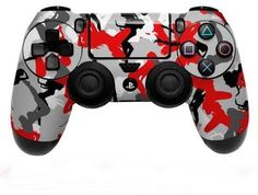 Playstation 4 PS4 Controller Skin Vinyl Decal Skin Red Camo