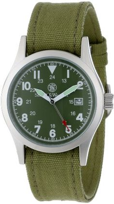 Smith & Wesson Military Watch Olive Drab Sww1464 with 3 interchangeable reinforced canvas bands
