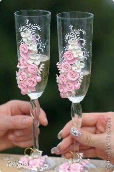 7 Best Doodh Pilai Glass Decoration Images Glass Wedding Wine