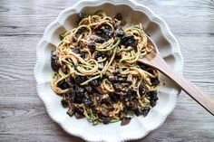 Zucchinipasta med portabellosvamp - Anja Forsnor/Green Kitchen Stories