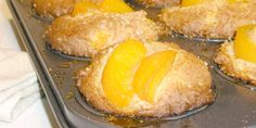 Anna Olson's Peach Ricotta Muffins.  Our FAVORITE!  Sub in any other fruit - berries, rhubarb...