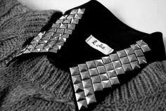 stud, collar, black, gray, spike, fashion