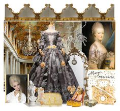 """""""Style Icon Marie-Antoinette"""" by yours-styling-best-friend ❤ liked on Polyvore featuring Osman, Christopher Guy, Sweet Romance, Christian Louboutin, Swarovski, Miu Miu, One Hundred 80 Degrees, Dot & Bo, Dolce&Gabbana and Vintage"""