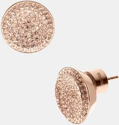 Rose Gold & Gold Quartz Michael By Michael Kors Stud Earrings