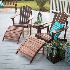 Side Table Patio Chair Outdoor Garden End Furniture Living Room Accent Wood New