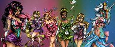 princesas disney sailor moon