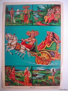 INDIA Old Print RAVANA ABDUCTS SITA Full Story 25929 picclick.com