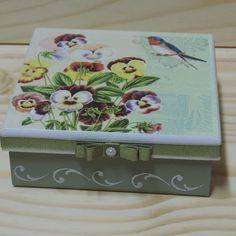 CA 05 Stencil, Decoupage Box, Decorative Boxes, Glass, Painting, Home Decor, Brown Colors, Vintage Crates, Decorative Items