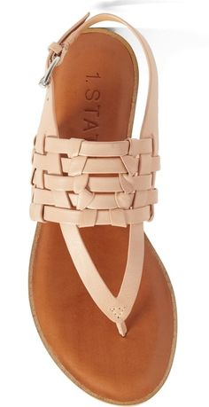 It's easy to make a statement this summer with these interwoven sandals fitted with a comfortable cushioned insole.