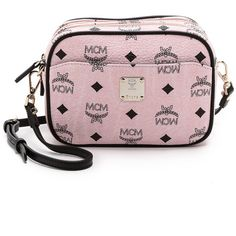 MCM Camera Cross Body Bag (€410) ❤ liked on Polyvore featuring bags, handbags, shoulder bags, mcm, chalk pink, pink handbags, cross-body handbag, mcm purse, crossbody purse and pink crossbody
