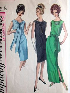 Simplicity Dress Pattern No 5704 Vintage 1960s by CaliforniaSunset, $12.00