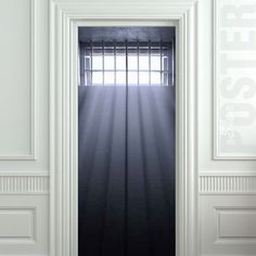 "Wall door sticker window prison jail cell light mural decole film self-adhesive poster 30x79""(77x200cm) /"