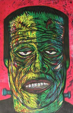 The product Frankenstein Color Woodcut is sold by Woodcut Funhouse in our Tictail store.  Tictail lets you create a beautiful online store for free - tictail.com