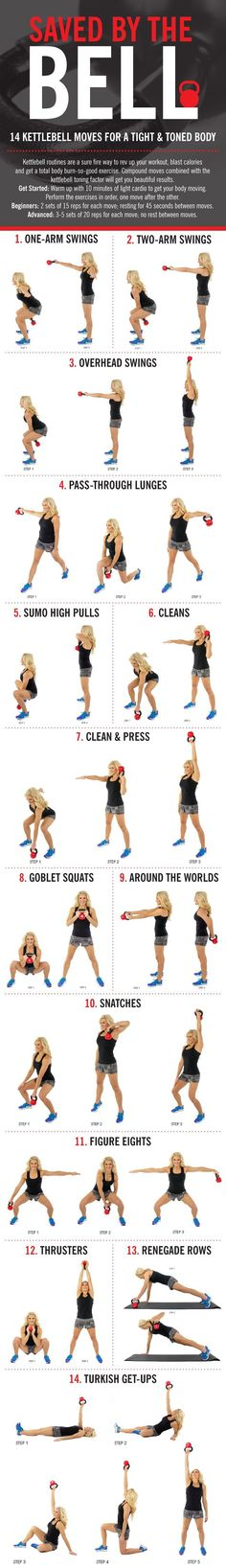 14 Kettlebell Moves for an All Over Body Calorie Torcher #strong #fitness #burnbabyburn