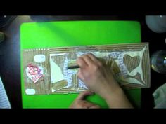 """A time lapse of my mixed media art journal page """"Words"""""""