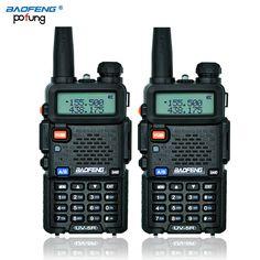 Ruso de valores 2 unids negro baofeng uv-5r walkie talkie transceptor cb baofeng uv5r 5 w vhf uhf de doble banda de radio de dos vías radio