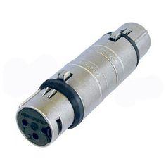 XLR Adaptor 3 pole female to 3 pole female DMX lighting connector