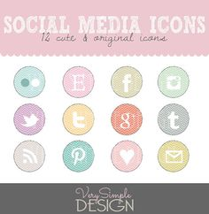 Social Networking Icons 'Cartoon'