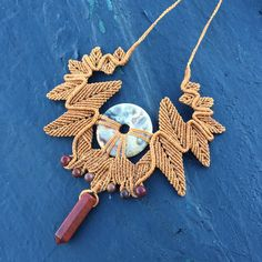 A personal favourite from my Etsy shop https://www.etsy.com/au/listing/466975439/autumn-leaves-handmade-macrame-necklace