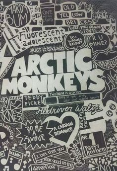 Cool artwork and love Arctic Monkeys