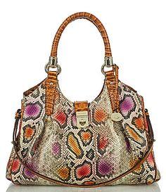 Brahmin Sol Collection Elisa SnakePrint Hobo Bag #Dillards