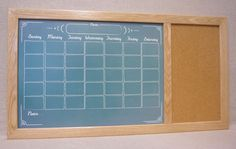 Never miss an appointment or lose a paper again! Our large framed calendar combined with a cork pin board helps you stay organized! By TailorMadeWhiteboard - available on Etsy and Amazon Handmade.