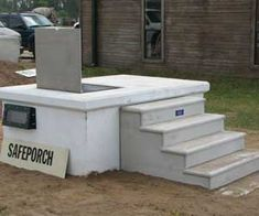 Storm shelter on pinterest storm shelters underground for Porch storm shelter