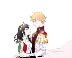 They look like royalty~ but, red green and white? What is this? Italy? (Miraculous Ladybug)