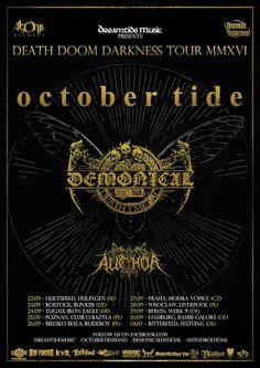 Long Live The Loud 666: OCTOBER TIDE,DEMONICAL,AUCHOR IN DEATH DOOM DARKNE...