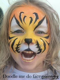 Tiger by doodle me do face painting