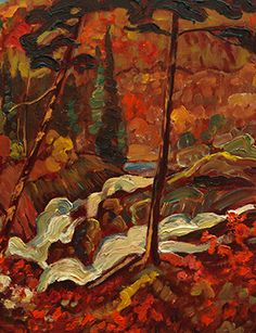 J.E.H. MacDonald, Sketch for Wild River, c. 1919. Oil on paperboard