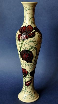 Moorcroft Pottery Chocolate Cosmos 138/12 Rachel Bishop Open Edition  http://www.bwthornton.co.uk/moorcroft.php