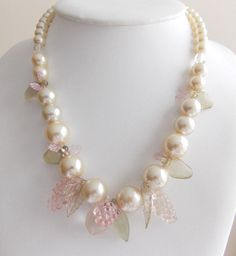 Pretty 1950s Pearls and Fruits Necklace by popgoesmyvintage