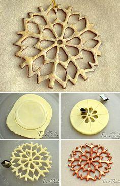 Мастер-класс: Снежинки из соленого теста. Подробно: http://www.livemaster.ru/topic/165037 #diy #handmade