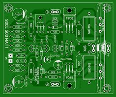 This amplifier Super OCL rms with a maximum power supply voltage at the load on par with other assemblies amplifier. Dc Circuit, Circuit Diagram, Hobby Electronics, Electronics Projects, Battery Charger Circuit, Electronic Schematics, Electronic Circuit, Waves Audio, Circuit Board Design