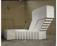 Guggenheim Museum - Rachel Whiteread - The Exhibition Untitled (Basement), Mixed media, 112 x 436 x 241 inches. Photo by Gautier Deblonde. Rachel Whiteread, Appropriation Art, Modern Art Sculpture, Negative Space, Installation Art, Online Art, Contemporary Art, Stairs, Staircases