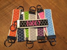 A personal favorite from my Etsy shop https://www.etsy.com/listing/263645935/personalized-monogram-key-fob-key-chain