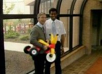Little Tikes trike (as modeled here by Mister Rogers; surprise, surprise!)