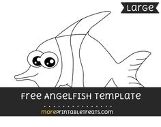 Free Angelfish Template - Large
