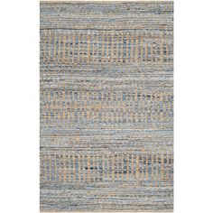 Found it at AllModern - Cromwell Hand-Woven Natural/Blue Area Rug