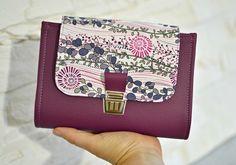 Planner personal A6 français en simili cuir amethyste prune et violet par Shirley Ze Pap
