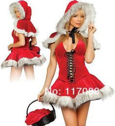 Okayoasis Women High Quality Red Sexy Christmas Costume Womens Clothes  Bodyshaper Women Santa Costume a591f320c1d6