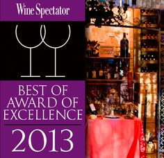 "Wine Spectator has reconized The Manor with its ""Best of Award of Excellence"" for superior presentation of wines, displaying vintage depth, several vertical offerings of top wines, and excellent breadth across several wine regions. (www.themanorrestaurant.com)"