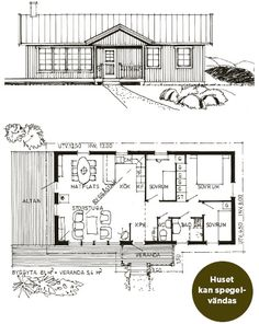 Tylösand 81 | Fritidshus - Landsbrostugan AB Barn Style House Plans, Tiny House Plans, Weekend House, Micro House, Compact Living, Barndominium, Cabin Homes, House Layouts, Building A House
