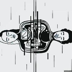 #mylittledeaths #music #band #blackandwhite #gif #ink #photoshop