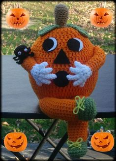 Halloween  Pumpkin Doll Crochet Pattern - 2014 Halloween for Kids